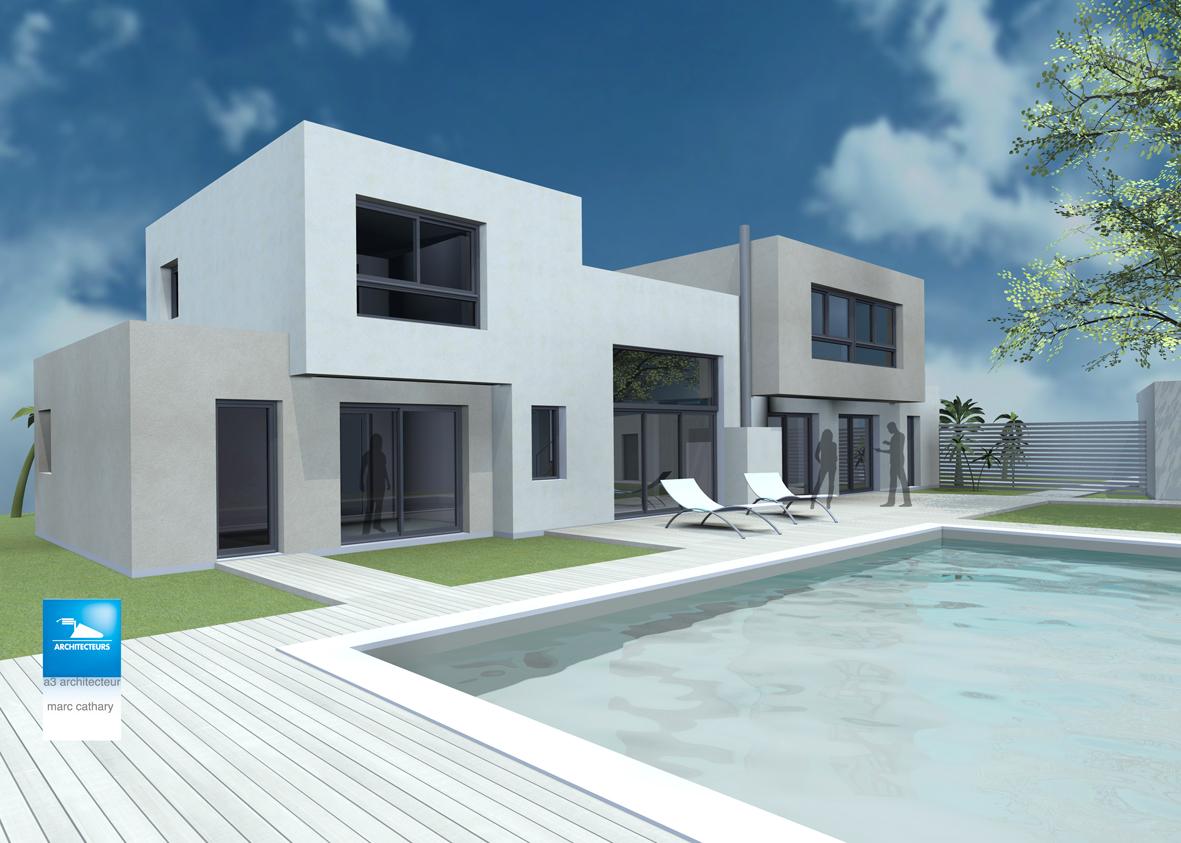 Maison 200m2 cathary architecte for Maison contemporaine 200m2